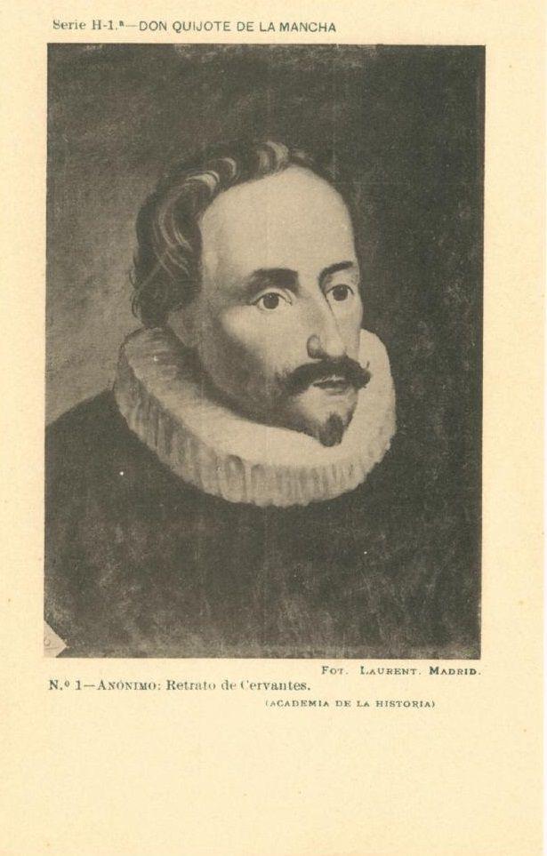 Nº 1. Anónimo. Retrato de Cervantes. Academia de la Historia