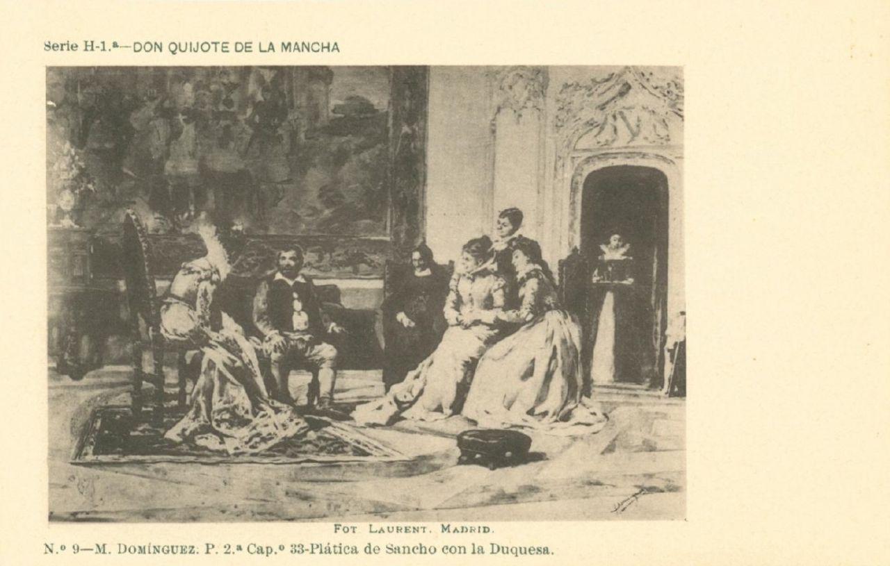 Nº 9. M. Domínguez. Plática de Sancho con la Duquesa (DQ II, Cap. 33)