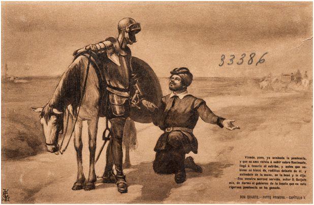 10.- Don Quijote y Sancho conversan tras la aventura del vizcaíno (DQ I, 10)