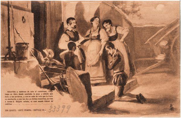 3.- Don Quijote es armado caballero (DQ I, 3)