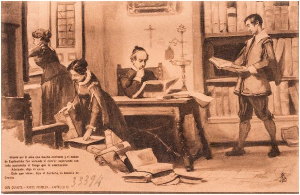 6.- El escrutinio de la librería de don Quijote (DQ I, 6)