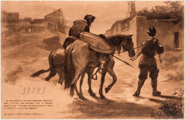 5.- El labrador lleva de vuelta a casa a don Quijote (DQ I, 5)