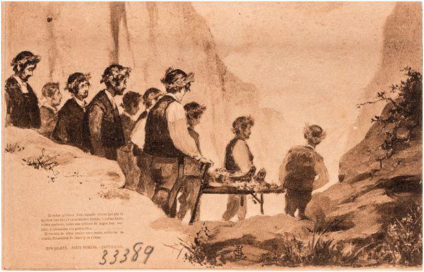 13.- Los cabreros transportan el cuerpo de Grisóstomo (DQ I, 13)