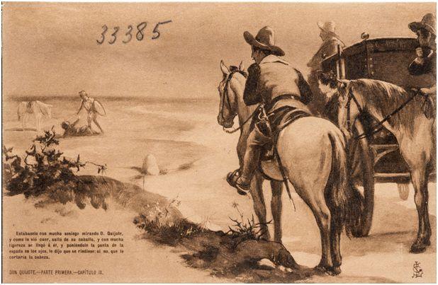 9.- La batalla de don Quijote con el vizcaíno (DQ I, 9)