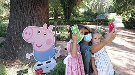 Un libro para encontrar a Peppa Pig y a su familia en el Jardín Botánico de Madrid