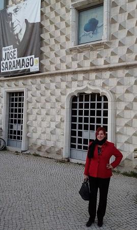 María Viedma en la Fundación Saramago