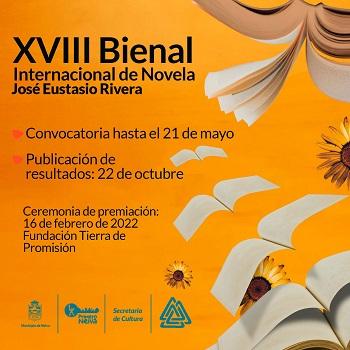 "Abierta la convocatoria para Bienal Internacional de Novela ""José Eustasio Rivera 2021"""