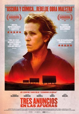 """Se estrena """"Tres anuncios en las afueras"""", coproducida, escrita y dirigida por Martin McDonagh"""