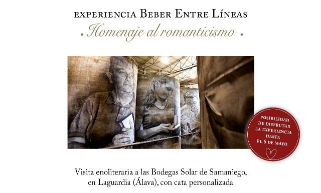 Bodegas Solar de Samaniego propone un homenaje Beber Entre Líneas al romanticismo por San Valentín