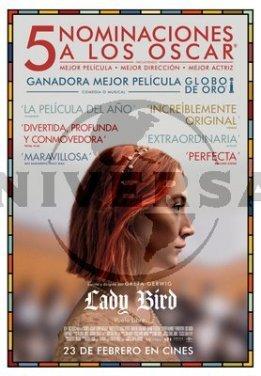 """Se estrena """"Lady bird"""", escrita y dirigida por Greta Gerwig , nominada a 5 Oscar y ganadora de 2 Globos de Oro"""