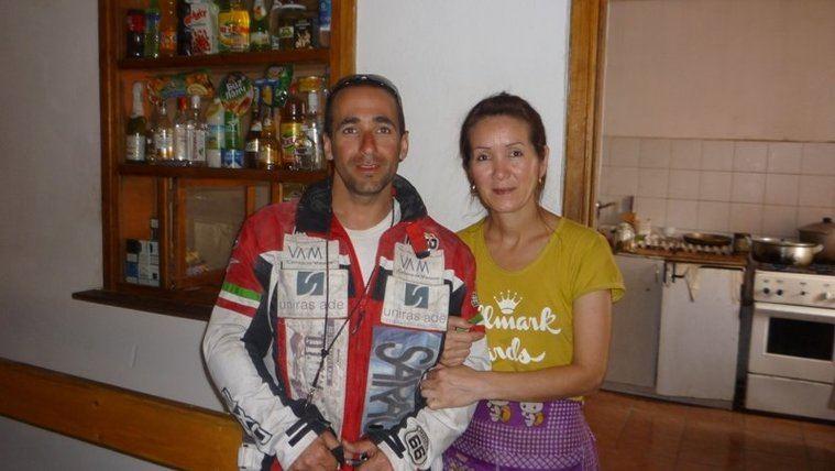 Ricardo Fité con su mama