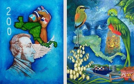 Pintor hondureño gana concurso para la portada de la Antología del Bicentenario de Centroamérica