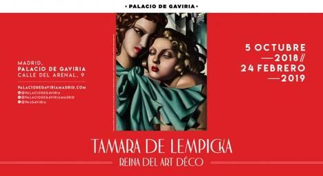 Exposición de Tamara de Lempika en el Palacio de Gaviria de Madrid; la expresión de una femineidad exenta de miedos