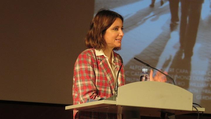 Andrea Levy, delegada del Área de Cultura, Turismo y Deporte del Ayuntamiento de Madrid