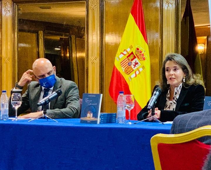 Beatriz Rodríguez el día de la presentación de su libro