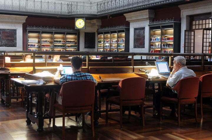 Sala de lectura de la Biblioteca Nacional de España