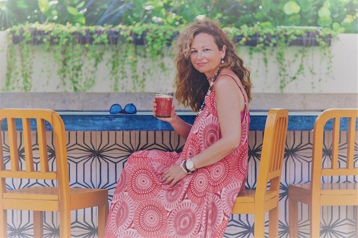 Carmela Díaz en Tulum