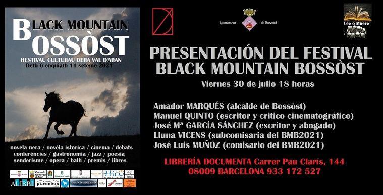Cartel presentación en Barcelona