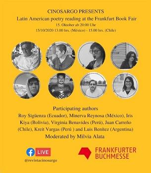 Cinosargo presenta: lectura de poesía latinoamericana en la Feria del Libro de Frankfurt