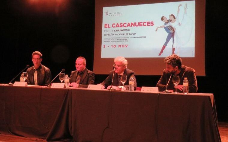 José Carlos Martínez, director de la Compañía Nacional de Danza; Joan Matabosch, director artístico del Teatro Real; Ignacio García- Belenguer, director general del Teatro Real y Manuel Coves, director musical