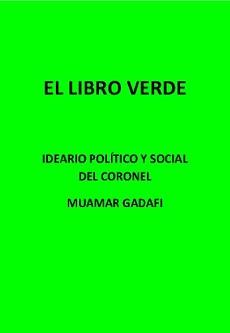 """""""El libro verde"""", de Muamar Gadafi"""