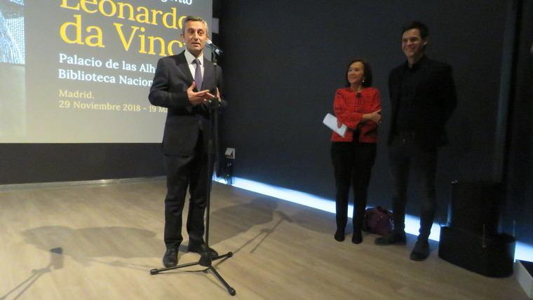 Christian Gálvez, comisario de la exposición, miembro del Leonardo DNA Project y experto mundial en la figura de Leonardo da Vinci