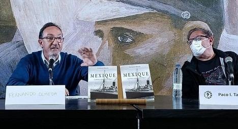 """Excelente acogida del libro """"MEXIQUE. La última crónica de Sofía Blasco"""", de Fernando Olmeda en la Semana Negra de Gijón"""