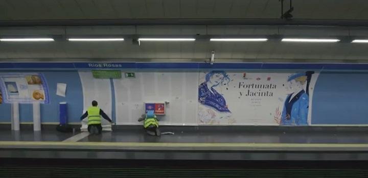 Estación de metro en Ríos Rosas
