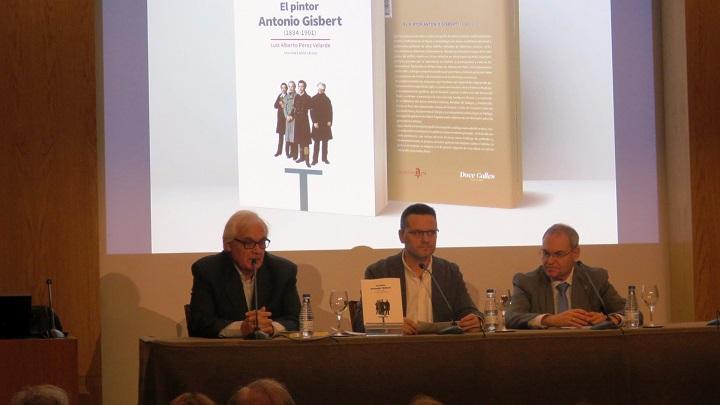 Pedro M. Sánchez Moreno de Ediciones Doce Calles, editora del libro, Luis Alberto Pérez Velarde, autor del libro y Jesús Cantera Montenegro