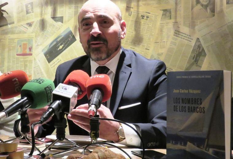 El autor, José Carlos Vázquez, ganador del Premio Felipe Trigo