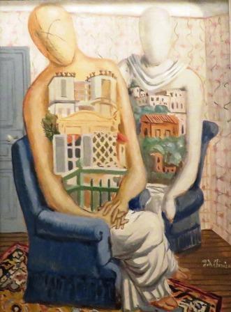 Le muse (Le muse in villeggiatura; En villégiature), 1927, [Las musas (Las musas de vacaciones)]. Giorgio de Chirico