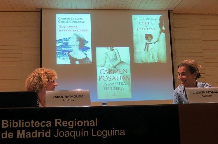 Carlolina Molina y Carmen Posadas