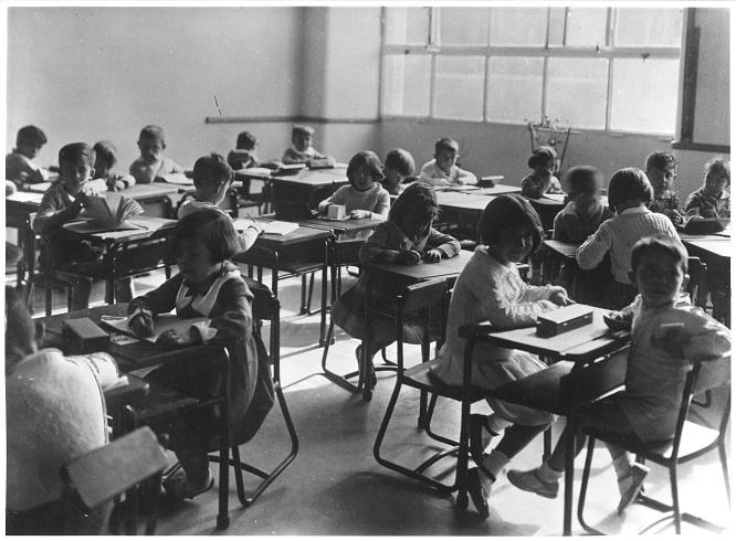 Clase del Instituto- Escuela en la Sección Hipódromo, 1933