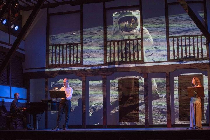 Manuel Cepero, Benjamín Montesinos y Silvia Marsó en el Corral de Comedias (Crédito de la imagen: Festival Internacional de Teatro Clásico de Almagro)