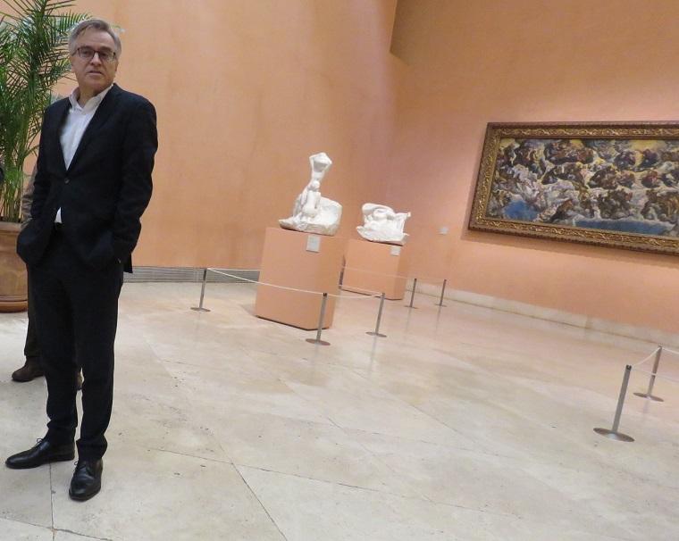 Guillermo Solana, director artístico del Museo Nacional Thyssen- Bornemisza, durante la presentación de Obras invitadas de Museos de Madrid