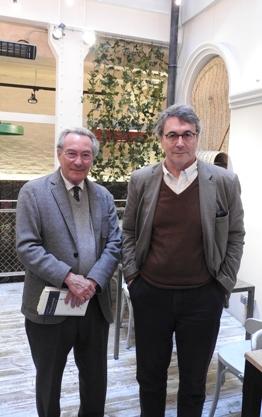 Jacobo Cortines y Andrés Trapiello
