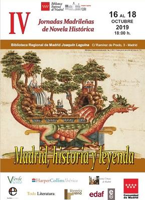 Las IV Jornadas Madrileñas de Novela Histórica llegan a la Biblioteca Regional Joaquín Leguina los días 16, 17 y 18 de octubre