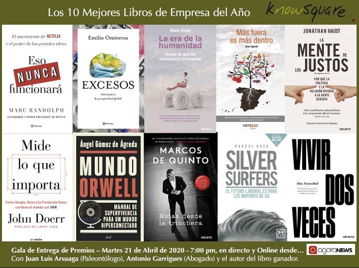 Libros finalistas del premio Know Square