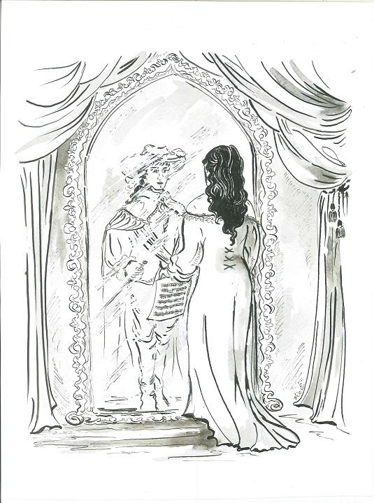Ilustración de la 5ª parte de 'La Voz y la Espada'