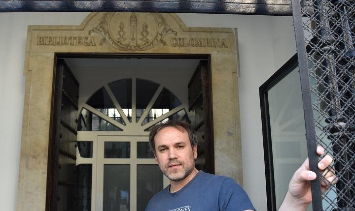 Luis Zueco en la Biblioteca Colombina