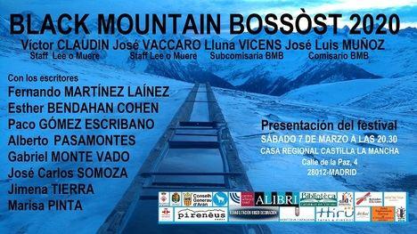 El 27 de abril arrancará la IV Edición del Festival Literario Black Mountain Bossòst