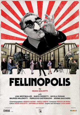 Cártel de la película de Federico Fellini 'Fellinópolis'