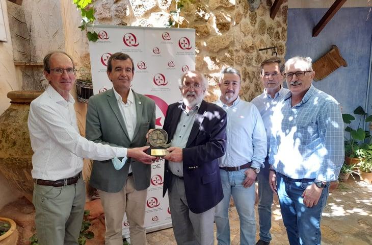 Michel Mayor con la Asociación Cervantina de Alcázar de San Juan