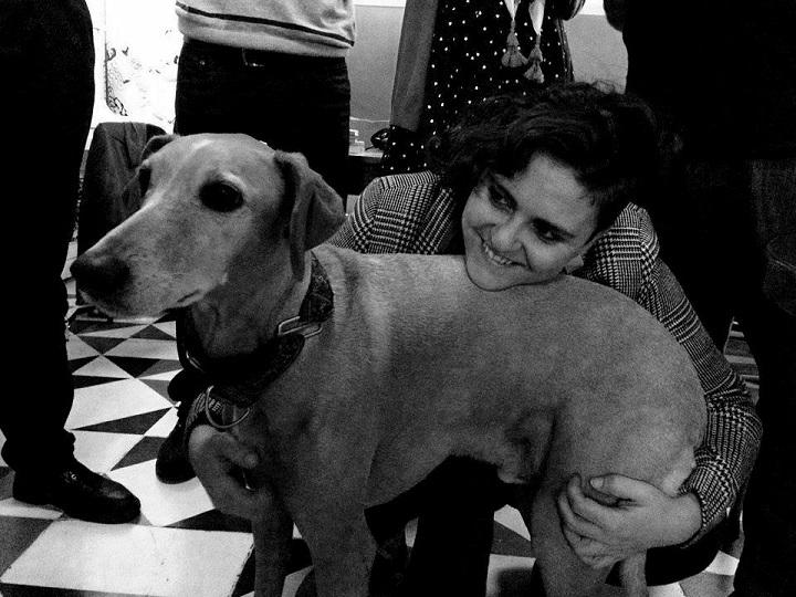 Noelia Illan Conesa con su perro