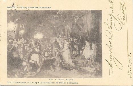 Las primeras postales de tema quijotesco en España (I)