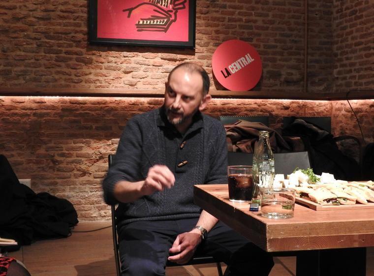 Félix Palma en la librería 'La Central'