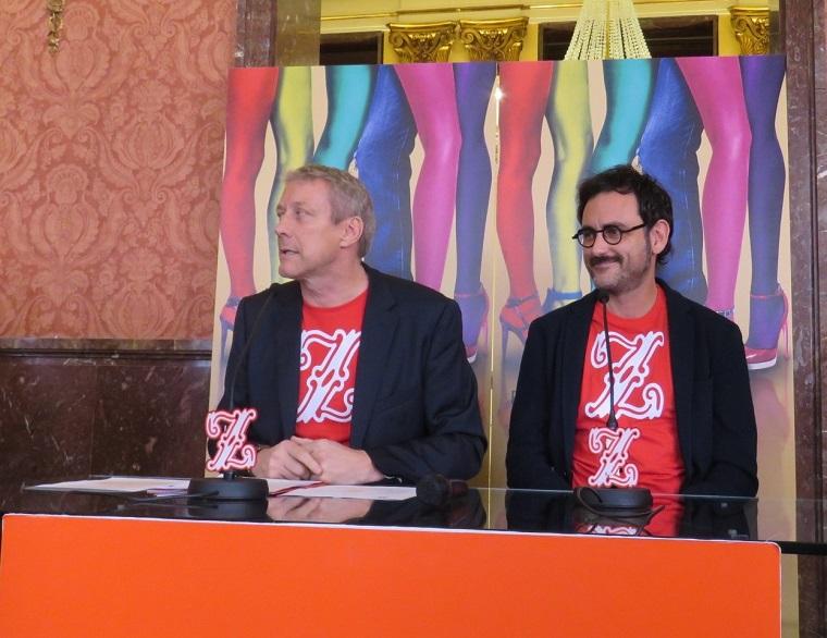 Daniel Bianco, director del Teatro de la Zarzuela y el director de escena Pablo Messiez