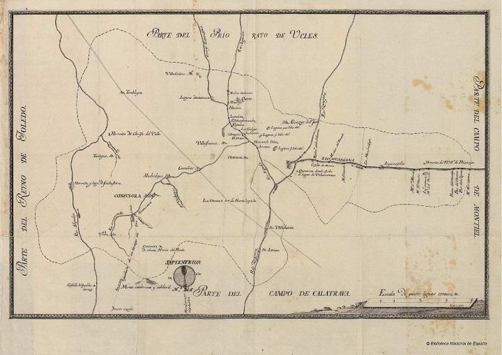Plano del río Guadiana