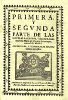 Portada de las novelas de María de Zayas
