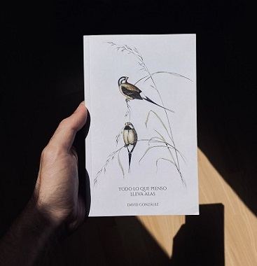 El escritor canario David González publica el poemario 'Todo lo que pienso lleva alas'